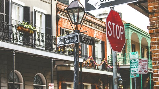 French Quarter Street in New Orleans, Louisiana