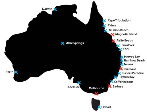 Base Hostel Map Australië