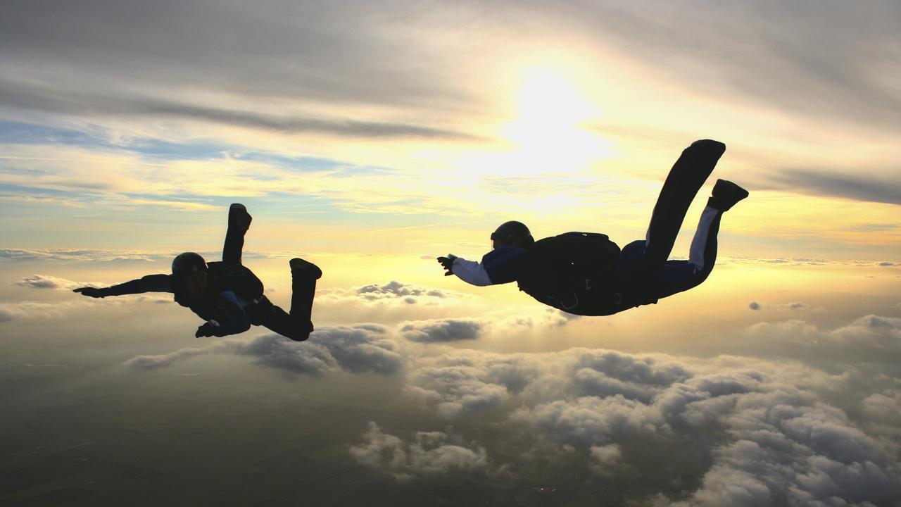skydiving wallpaper sunset free - photo #38